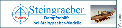 Dampfpinassen bei Steingraeber-Modelle