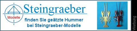 geätzte Hummer bei Steingraeber-Modelle