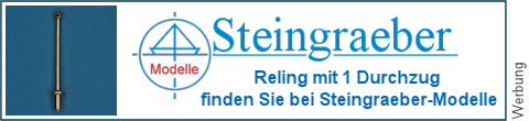 1 Durchzug Relingspfosten bei Steingraeber-Modelle