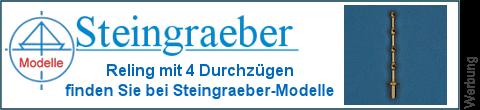4 Durchzüge Relingpfosten bei Steingraeber-Modelle