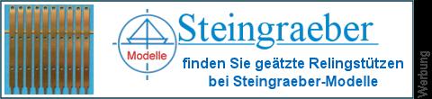 geätzte Relingsstützen bei Steingraeber-Modelle