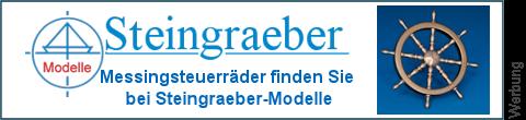 Messing Ruderrad bei Steingraeber-Modelle